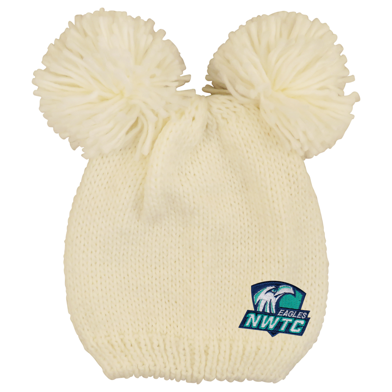 Image For HAT DOUBLE POM KNIT CREAM