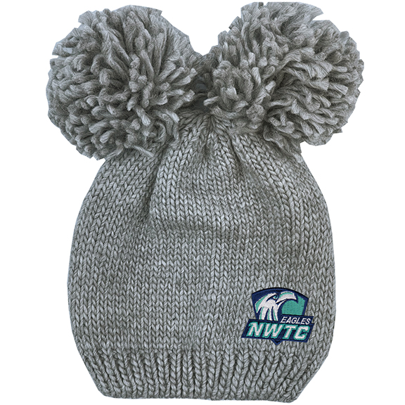Image For HAT DOUBLE POM KNIT