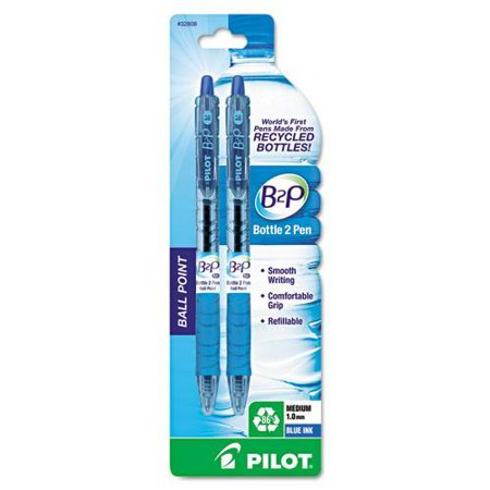 Image For PEN PIL B2P 2-PK BLUE